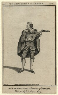 Joseph Vernon as Thurio in 'The Two Gentleman of Verona', after James Roberts - NPG D7534