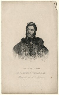 Richard Hussey Vivian, 1st Baron Vivian when Sir Richard Hussey Vivian, Bt, by Joseph Brown, after  Sir Martin Archer Shee, published 1840 - NPG D7541 - © National Portrait Gallery, London