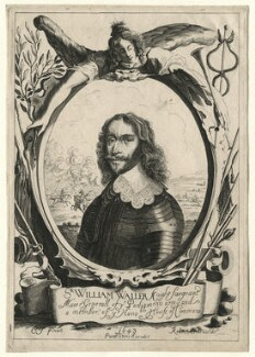 Sir William Waller, by Peter Rottermond (Rodttermondt), published by  Peter Stent, after  Cornelius Johnson (Cornelius Janssen van Ceulen) - NPG D7556