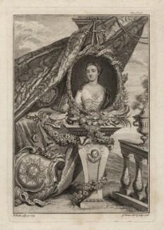 Catherine Walpole (née Shorter), Lady Walpole, by George Vertue, after  Christian Friedrich Zincke, 1748 (1735) - NPG D7561 - © National Portrait Gallery, London