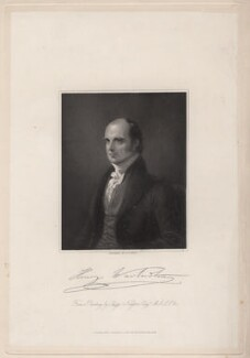 Henry Warburton, by William Henry Mote, after  Sir George Hayter - NPG D7565