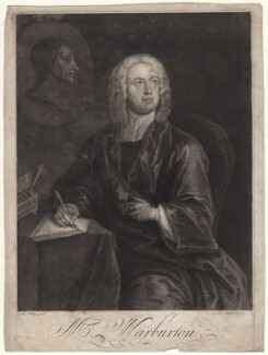 William Warburton, by Thomas Burford, after  Charles Philips - NPG D7566