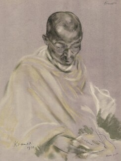 Mahatma Gandhi, after Jacob Kramer, 1932 - NPG  - © William Roberts Society