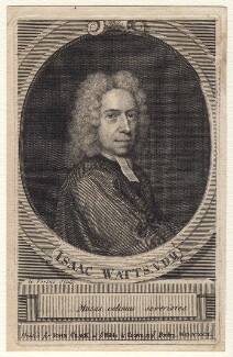 Isaac Watts, by George Vertue, after  Unknown artist - NPG D7583