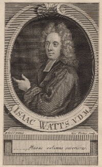 Isaac Watts, by George Vertue, after  Isaac Whood - NPG D7585