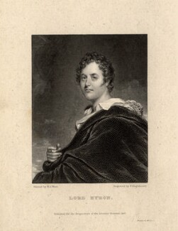 George Gordon Byron, 6th Baron Byron, by Francis Engleheart, after  William Edward West, published 1827 - NPG D7607 - © National Portrait Gallery, London