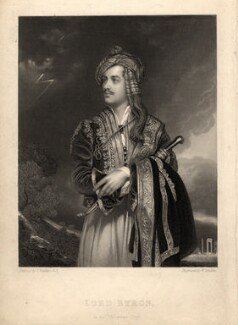 Lord Byron, by William Finden, after  Thomas Phillips - NPG D7608