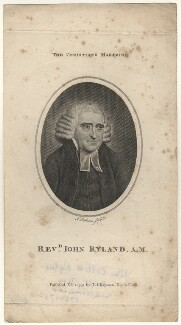 John Collett Ryland, by J. Robinson, published by  Thomas Chapman - NPG D7612
