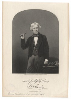 Michael Faraday, by Henry Adlard, after a photograph by  Maull & Polyblank - NPG D7614