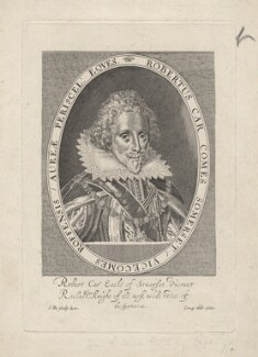 Robert Carr, Earl of Somerset, by Simon de Passe, published by  Compton Holland, circa 1615 - NPG D7644 - © National Portrait Gallery, London