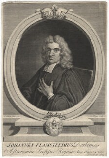 John Flamsteed, by George Vertue, after  Thomas Gibson - NPG D7653