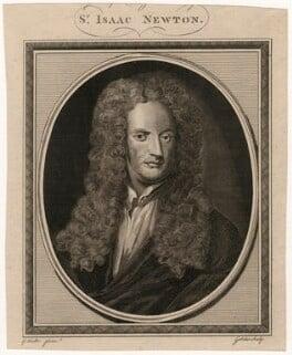 Sir Isaac Newton, by John Goldar, after  Sir Godfrey Kneller, Bt, circa 1755-1795 (1702) - NPG D7655 - © National Portrait Gallery, London