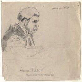 Sir Forrest Fulton, by Sir Leslie Ward, study for drawing published in Vanity Fair 9 July 1903 - NPG D7684 - © National Portrait Gallery, London