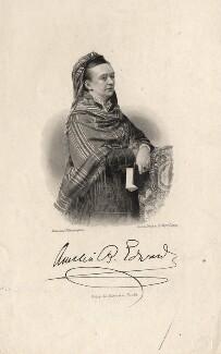 Amelia Edwards, by August Weger, after  Elliott & Fry - NPG D7713