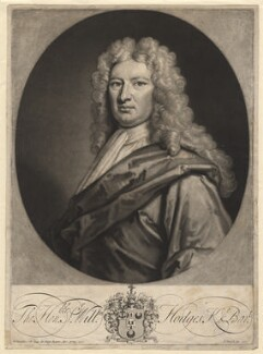 Sir William Hodges, 1st Bt, by John Smith, after  Sir Godfrey Kneller, Bt, 1715 (1713) - NPG  - © National Portrait Gallery, London