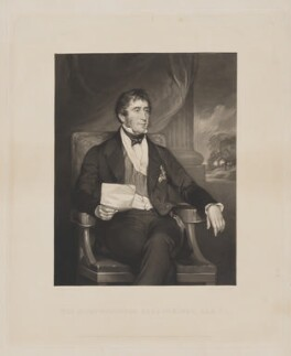 Gilbert Elliot Murray Kynynmound, 2nd Earl of Minto, by George Zobel, published by  Paul and Dominic Colnaghi & Co, after  Sir Francis Grant - NPG D7735