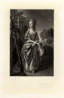 Frances Bowater (née Duncombe), by James Scott, after  Thomas Gainsborough - NPG D774
