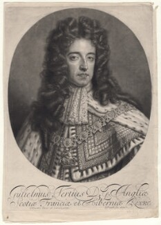 King William III, by John Smith, after  Sir Godfrey Kneller, Bt - NPG D7745
