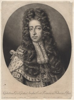 King William III when Prince of Orange, by William Faithorne Jr, published by  Edward Cooper, after  Sir Godfrey Kneller, Bt - NPG D7746