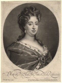 Queen Mary II, sold by John Smith, after  Sir Godfrey Kneller, Bt - NPG D7758