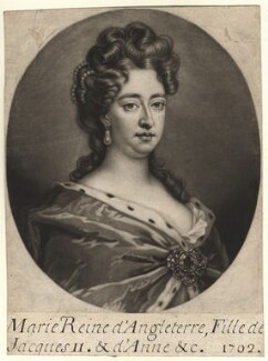 Queen Mary II, by John Smith, after  Sir Godfrey Kneller, Bt - NPG D7759
