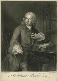 Archibald Bower, by James Macardell, after  George Knapton - NPG D776