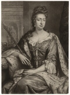 Queen Mary II, by William Faithorne Jr, after  Jan van der Vaart - NPG D7766