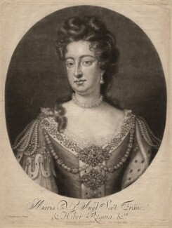 Queen Mary II, by John Simon, after  Jan van der Vaart - NPG D7767