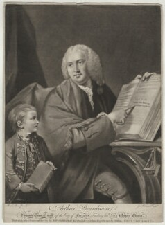 Arthur Beardmore, by James Watson, after  Robert Edge Pine - NPG D777