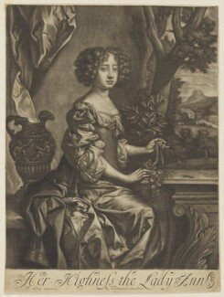 Queen Anne when Princess, published by Richard Tompson, after  Sir Peter Lely, 1678-1679 - NPG D7779 - © National Portrait Gallery, London