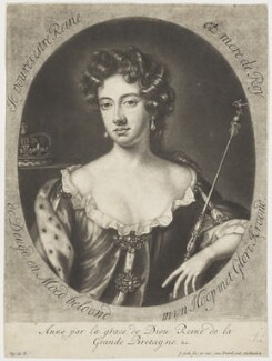 Queen Anne, by Jacob Gole, after  Willem Wissing - NPG D7780