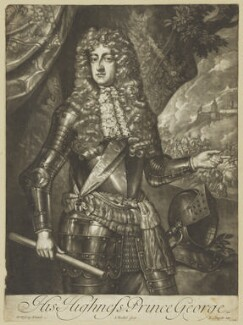 Prince George of Denmark, Duke of Cumberland, by Isaac Beckett, after  Willem Wissing, (circa 1683) - NPG D7781 - © National Portrait Gallery, London