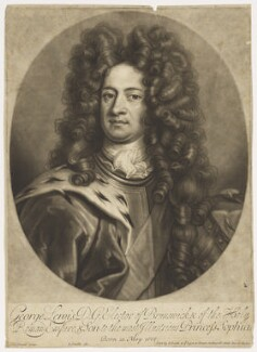 King George I when Elector of Hanover, by John Smith, after  Johann Leonhard Hirschmann - NPG D7793