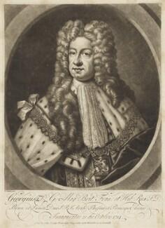King George I, by John Faber Jr, after  D. Stevens - NPG D7794