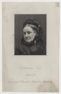 Catherine Tait, by Charles Henry Jeens, after a photograph by  Elliott & Fry, published 1879 - NPG D7799 - © National Portrait Gallery, London
