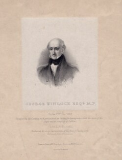 George Kinloch, by William Sharp, printed by  Charles Joseph Hullmandel, after  Miss M. Saunders - NPG D7802