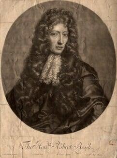 Robert Boyle, by John Smith, after  Johann Kerseboom - NPG D781