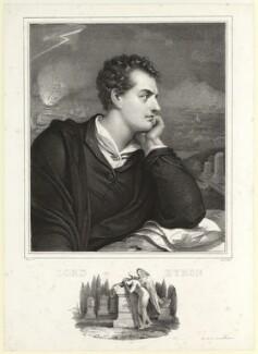 George Gordon Byron, 6th Baron Byron, by Nicolas Eustache Maurin, printed by  François Le Villain, after  Richard Westall, (1813) - NPG D7811 - © National Portrait Gallery, London