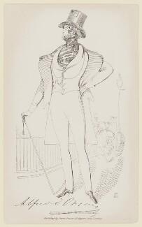 Alfred, Count D'Orsay, by Daniel Maclise, published by  James Fraser - NPG D7813