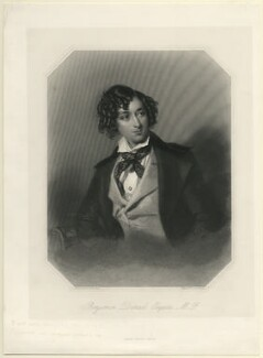 Benjamin Disraeli, Earl of Beaconsfield, by John Henry Robinson, published by  George Virtue, after  Alfred Edward Chalon - NPG D7817