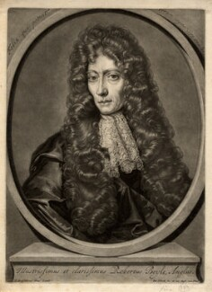 Robert Boyle, by Pieter Schenck, after  Johann Kerseboom - NPG D782
