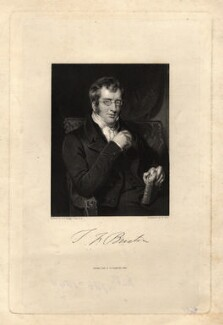 Sir Thomas Fowell Buxton, 1st Bt, by William Holl Sr, or by  William Holl Jr, after  Henry Perronet Briggs, published 1835 - NPG D7833 - © National Portrait Gallery, London