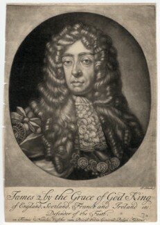 King James II, by Pieter Schenck, after  Sir Godfrey Kneller, Bt - NPG D7865