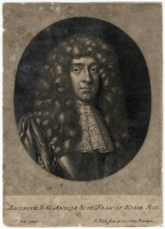King James II, by Gerard Valck, after  Sir Peter Lely - NPG D7866