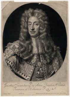 King James II, by John Smith, after  Sir Godfrey Kneller, Bt - NPG D7868
