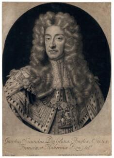 King James II, by John Smith, after  Sir Godfrey Kneller, Bt - NPG D7869