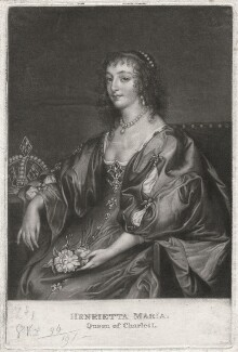 Henrietta Maria, after Sir Anthony van Dyck - NPG D7877