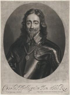 King Charles I, by Isaac Beckett, after  Sir Anthony van Dyck - NPG D7879