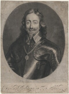 King Charles I, by Isaac Beckett, after  Sir Anthony van Dyck - NPG D7880