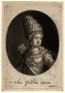 'An Indian Queen' (possibly Anne Bracegirdle), published by Bernard Lens (II) - NPG D790